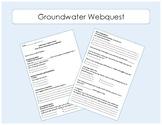 Water Distribution - Groundwater Webquest / Interactive Website Worksheet