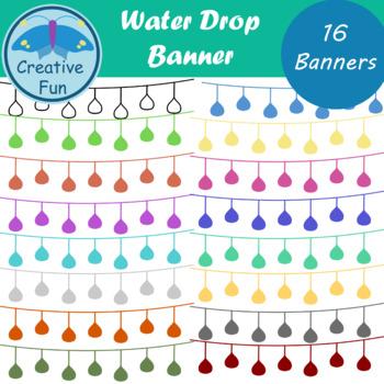 Water Drop Banner Clipart