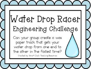 Water Drop Racer: Engineering Challenge Project ~ STEM Activity!