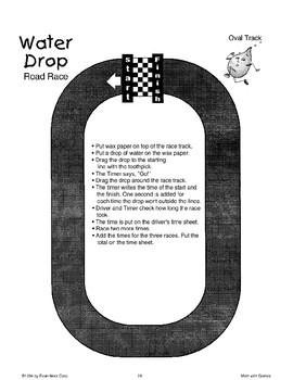 Water Drop Road Race (Math Games)