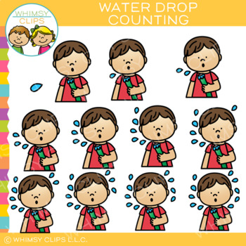 Water Drop Summer Counting Clip Art
