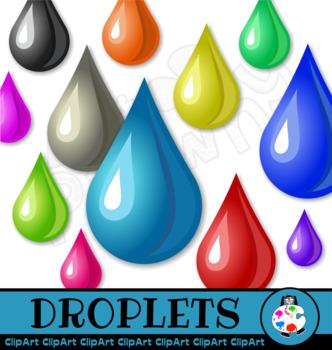 Water Drops Clip Art Set