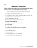 Water Education - Video Response Sheet