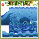 Water Elements Clip Art