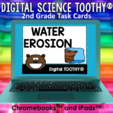 Water Erosion Digital Science Toothy® Task Cards | Distanc