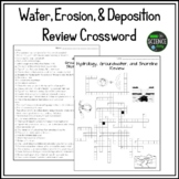 Water, Erosion, and Deposition Review Crossword Puzzle