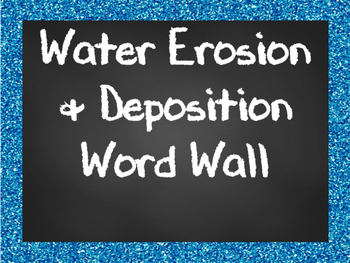 Water Erosion and Deposition Word Wall