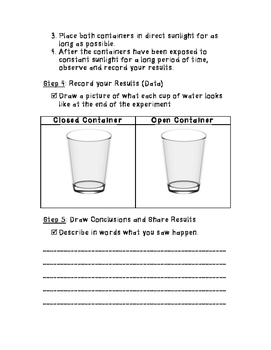 Water Evaporation Experiment