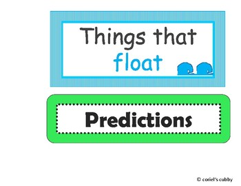 Water Exploration - SINK or FLOAT Free labels - PRINTABLES