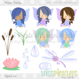 Water Fairies- Commercial Use Clipart Set