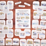 Water Features Pack: 3-part Montessori cards, classroom po