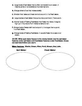 Water Features Quiz