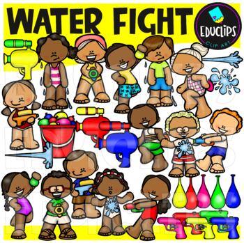 Water Fight Clip Art Bundle {Educlips Clipart}