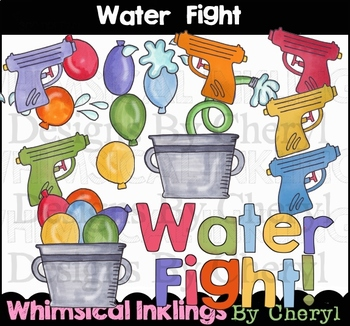 Water Fight Clipart Collection