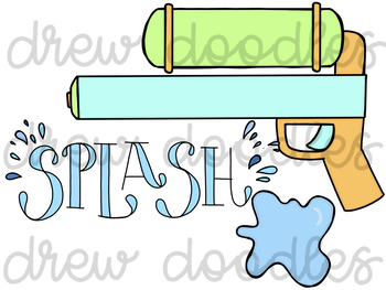 Water Fight Digital Clip Art Set