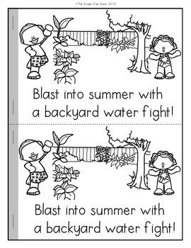Water Fight Emergent Reader