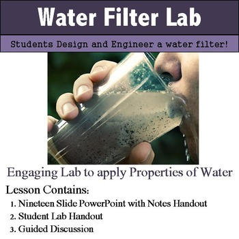 Water Filtration Lab and Notes - STEM Lab
