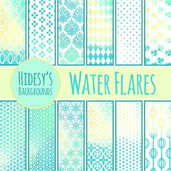 Water Flare Backgrounds / Digital Papers / Patterns Clip Art Commercial Use