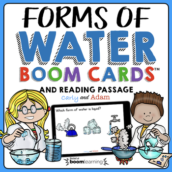 Water Forms Boom Cards™ | Water on Earth Reading Passage | 2nd Grade NGSS