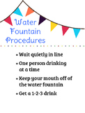 Water Fountain Procedures