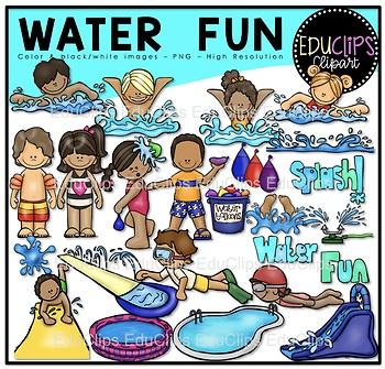 Water Fun Clip Art Bundle {Educlips Clipart}