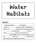 Water Habitats Tab Book