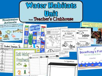 Water Habitats Unit from Teacher's Clubhouse