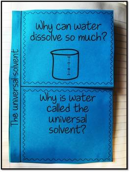 Water Interactive Notebook