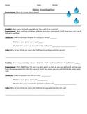 Water Investigation