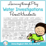 Water Investigations Learning Through Play Parent Handouts