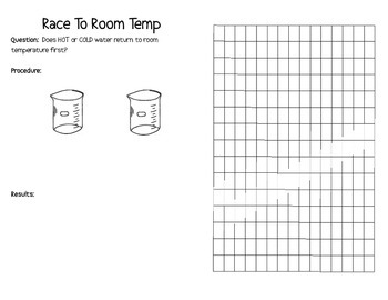 Water LAB - room temperature, freezing, melting - Interactive Notebook