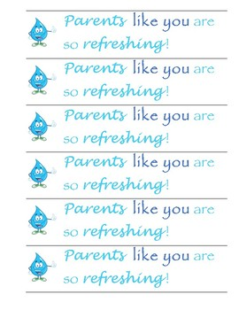 Water Labels For Parents