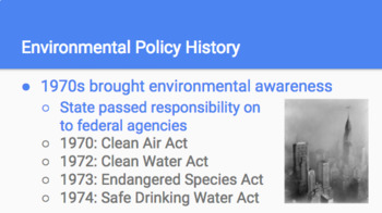 Water Laws of the United States Slideshow and Notes