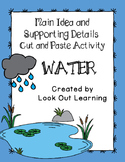 Water Main Idea Cut and Paste