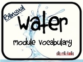Water Module - Bilingual Unit Vocabulary