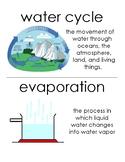 Water / Ocean floor unit Vocabulary Posters / Word Wall