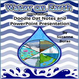 Water On Earth Doodle Dat Notes and PowerPoint Presentation:  NGS 5-ESS2-1