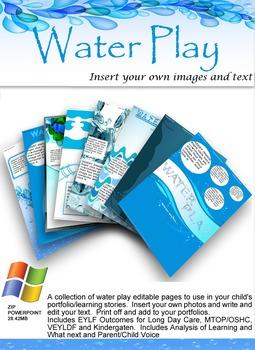 EYLF Water Play Editable Pack
