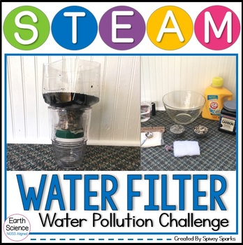 Water Pollution Water Filter STEM Earth Day STEM