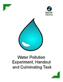 Water Pollution Lesson, Handout and Culminating Task with