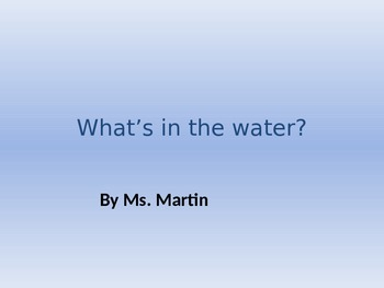 Water Pollution PowerPoint