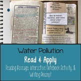 Water Pollution Reading Comprehension Interactive Notebook
