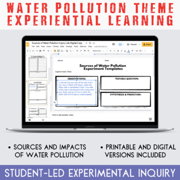 Water Pollution Unit: Student-Directed Learning Bundle
