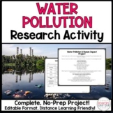 Water Pollution and Human Impact Project