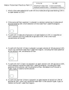 Water Potential Practice Part 3