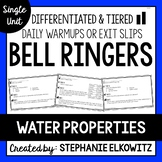Water Properties Bell Ringers