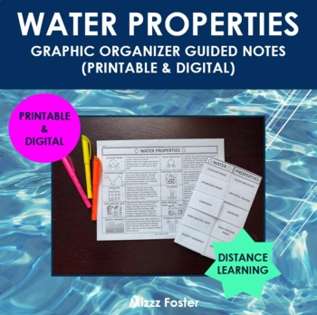 Water Properties Graphic Organizer Foldable for interactive Notebook