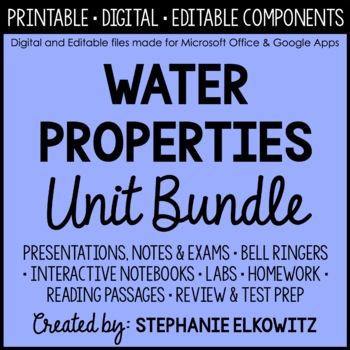 Water Properties Unit Bundle
