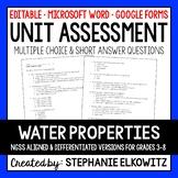 Water Properties Unit Exam
