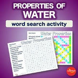 Water Properties * WordSearch * Vocabulary * Warm Up * Bell Ringer